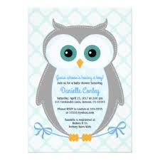 owl baby shower owl baby boy shower invitations announcements zazzle