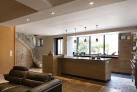 kchenfronten modern minimalist living area with light wooden floor open to the kitchen