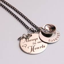Personalized Memorial Necklace Personalized Memorial Necklace Heart Circle And Name