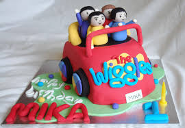 wiggles car with characters its a cake thing