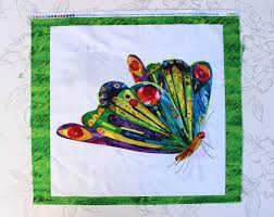 Hungry Caterpillar Nursery Decor The Hungry Hungry Caterpillar Cushion Panel Diy Caterpillar