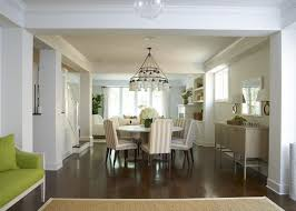 Chandelier Over Table Sophisticated Open Dining Room With White Sara Chandelier Over
