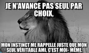Lion Meme - je n avance pas seul par choix lion meme on memegen