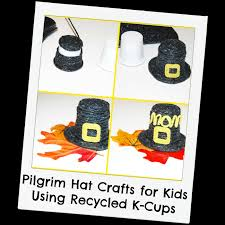 pilgrim hat crafts for kids with recycled k cups wikki stix