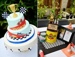 vintage cars and drag racing themed baby shower and party shower