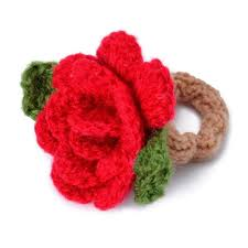 hair scrunchie bright cheerful knitted hair scrunchie ponytail holder or