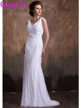 Aliexpress Com Buy Lamya Vintage Sweatheart Lace Bride Gown Compare Prices On V Neck Wedding Dresses Lace Online Shopping Buy