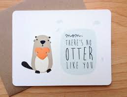 s day otter pun greeting card by letrango on etsy 4 50