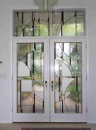 Interior Doors Frosted Glass Inserts by Furniture White Double Retro Style Swing Door Featuring