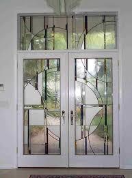 lead glass door inserts furniture decorative glass insert door design girlsonit com