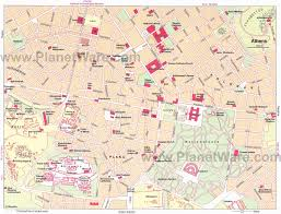 touristic map of 12 top attractions things to do in athens planetware