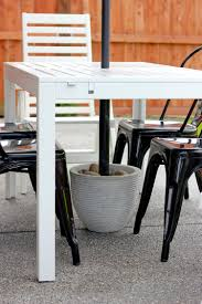 Patio Umbrella Side Table by Diy Umbrella Stand Side Table Home Table Decoration