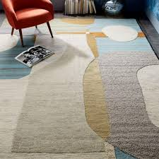 christopher wynter abstract circle rug light sage west elm uk