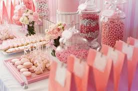 Pink And White Candy Buffet by Pink And White Baby Shower By Life Is Sweet Candy Buffets Paperblog