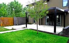 Pergola On Concrete Patio by Cedar Arbor Concrete Patio Cedar Pergola With Stamped Concrete