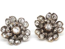 clip on earrings uk platinum and gold diamond cluster earrings antique jewellery uk