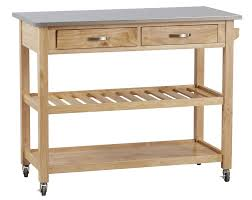 three posts byrnedale kitchen island with stainless steel top