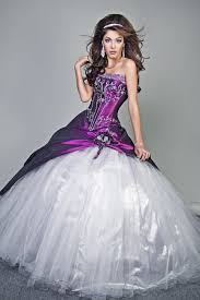 purple white wedding dress quinceanera dressesprom gown dresses discount fashionable