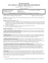 Building Maintenance Resume Samples by Custodial Supervisor Objective Resume Model Makers Resume New