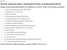 periods question marks exclamation points and quotation marks