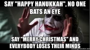say happy hanukkah no one bats an eye say merry and