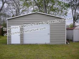 pre engineered steel buildings structure car and rv garage for parking