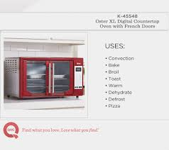 Oster Extra Large Convection Toaster Oven Oster Xl Digital Convection Oven With French Doors Page 1 U2014 Qvc Com