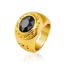 popular cheap gold rings for men buy cheap fashion black yellow gold filled hip hop mens ring size 8 9 10