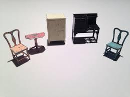 dollhouse furniture kitchen lot of 5 antique tootsietoy dollhouse miniature furniture kitchen