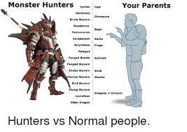 Monster Hunter Memes - monster hunters lynian cats your parents herbivore dinosaurs brute