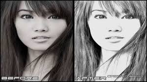 adobe photoshop cs5 pencil sketch effect youtube