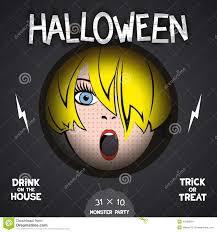 affiche de film d u0027horreur de halloween illustration de vecteur