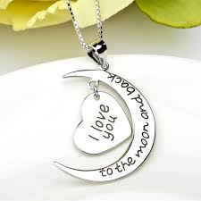 love necklace sterling silver images 925 sterling silver wholesale i love you to the moon and back jpg