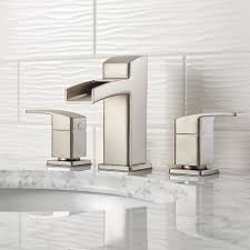 brushed nickel kenzo widespread trough bath faucet lg49 df0k