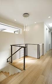 interior cable railing staircase modern with modern cape cod