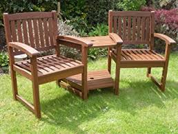Garden Bench Hardwood Henley Hardwood Garden Bench Companion Set Love Seat Great Outdoor