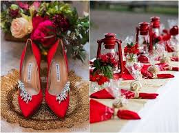 40 fall red wedding ideas deer pearl flowers