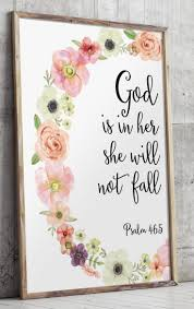 11 best bible verses images on pinterest bible verse art psalm printable wall decor bible verses god is within her she will not fall nursery verse print decor scripture art printable