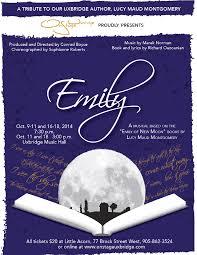 emily opens thanksgiving weekend onstage uxbridge