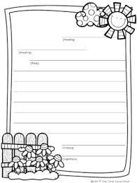 Letter Paper Template friendly letter writing templates by the think aloud cloud