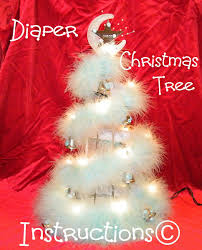 learn to make baby u0027s 1st christmas tree diaper cake by babyboo0722
