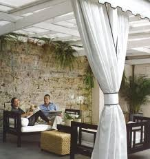 white floors party ideas sheer outdoor draping