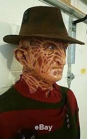 Lifesize Freddy Krueger Halloween Prop Mask Bust Life Size Jason