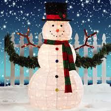 24 amazing outdoor lighted snowman foto ideas snowmen
