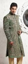 green velvet sherwani