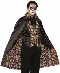 day of the dead cape costume amazon co uk clothing