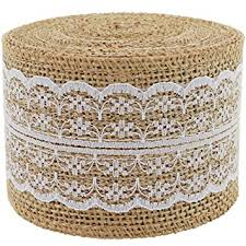 burlap ribbon burlap ribbon roll white lace trims jute