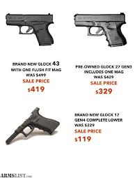 black friday gun sales armslist for sale new glock 43 419 this black friday only