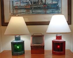 Nautical Table Lamps Perko Nautical Port U0026 Starboard Table Lamps Skipjack Nautical Wares