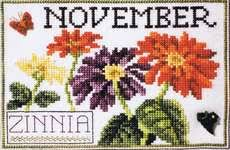 Flower Of The Month Flowers Of The Month December Poinsettia Cross Stitch Pattern